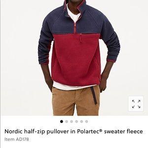 J crew Nordic half-zip pullover